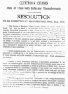 Cotton crisis resolution