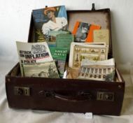 Albert Edward Knight suitcase of papers