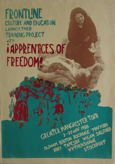 Poster advertising Apprentices of Freedom