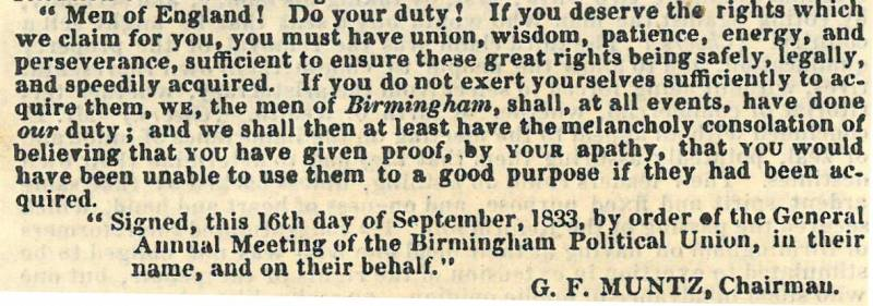 Quote from 1833 BPU report