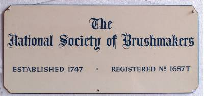 National Society of Brushmakers nameplate