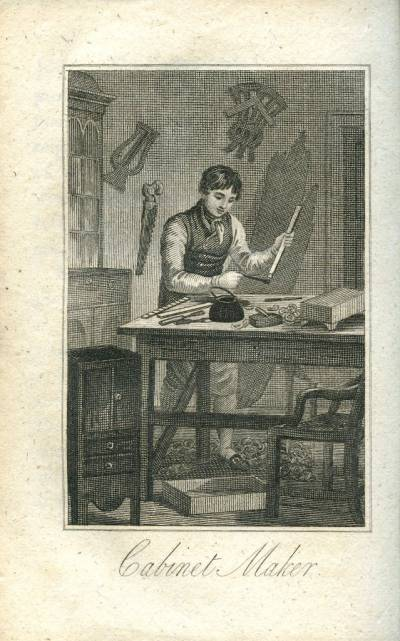 Engraving of a Cabinet Maker from the Book of Trades
