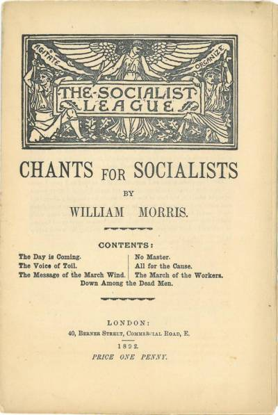 Front cover of Chants for Socialists by William Morris