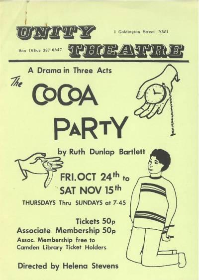 WCML | London Unity Theatre | Drama and literature