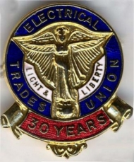 Electrical Trades Union badge : Electrical Trades Union badge