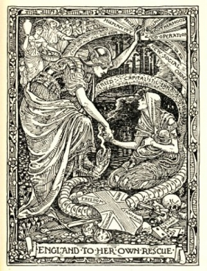 Illustration by Walter Crane entitled England to her own rescue