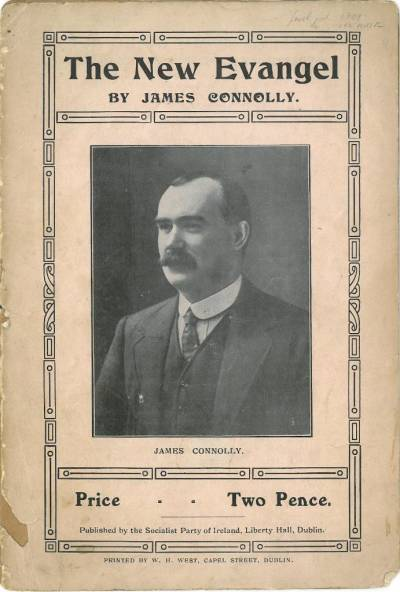 Front cover of The New Evangel, a pamphlet by James Connolly