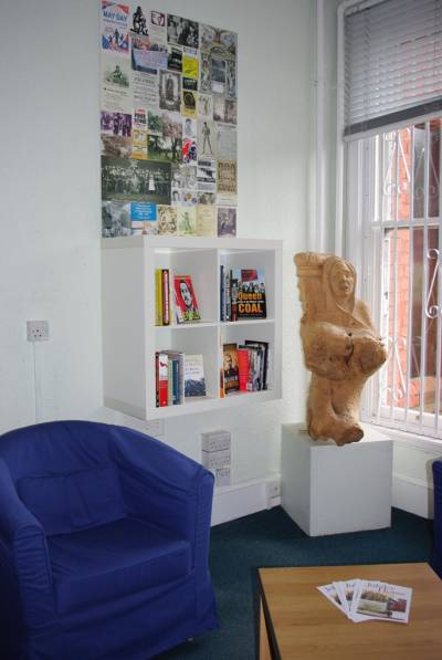 The Front Room at the Working Class Movement Library