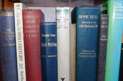 Photograph of books from the WCML Irish collection