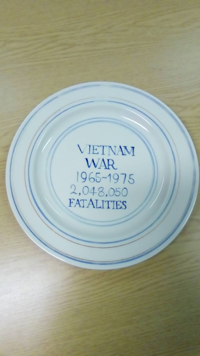 James Bloomfield Vietnam War plate
