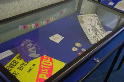 Display case from the Jubilee exhibition