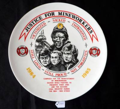 Justice for mineworkers plate