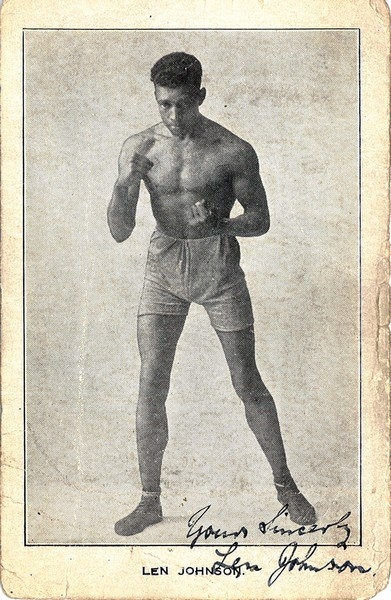 Photograph of the boxer Len Johnson