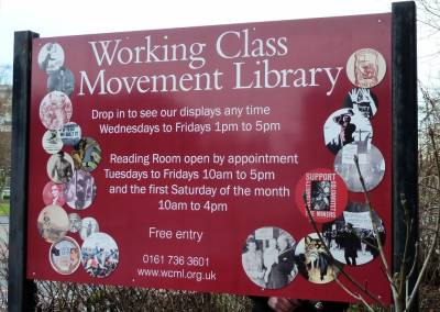 WCML library sign