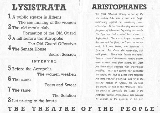 Lysistrata programme