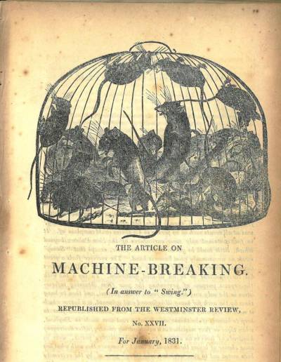 Cover of an article on Machine-Breaking, 1831