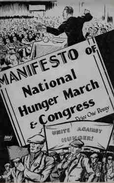Manifesto of the National March and Congress : the cover of a pamphlet produced by the NUWM in 1933