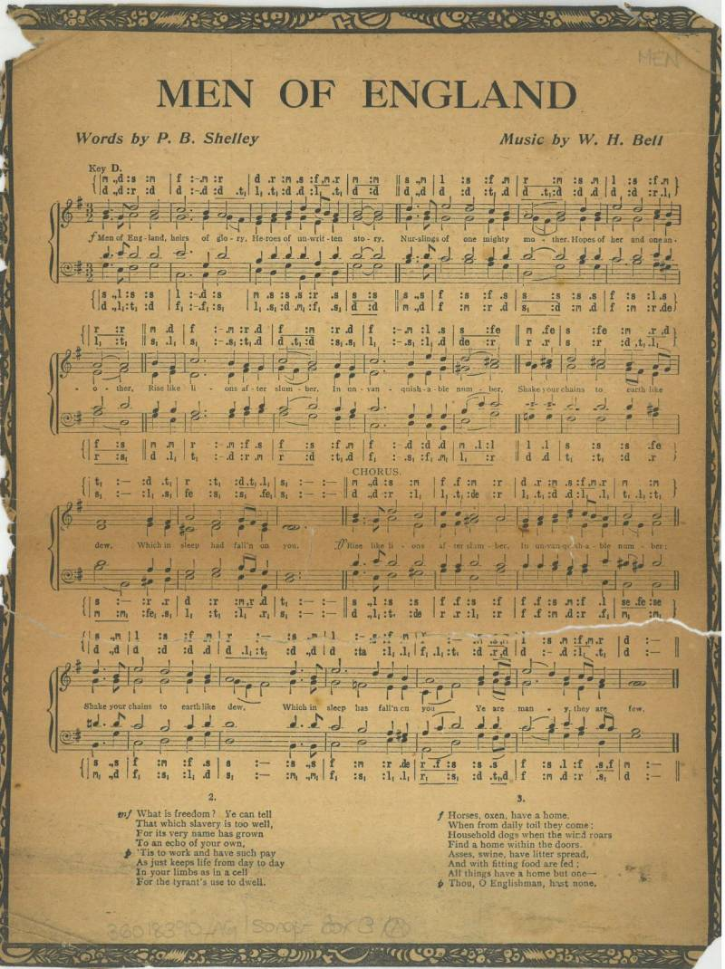 Men of England sheet music