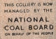 National Coal Board notice : National Coal Board notice