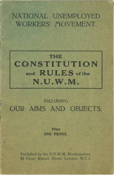 Cover of The constitution and rules of the NUWM