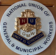 National Union of General and Municipal Workers plaque
