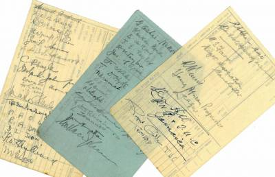 Signatures of delegates to the 1945 Pan African Congress