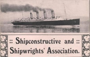 Part of Shipwrights annual report title