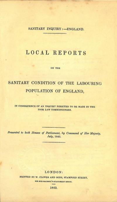 Title page of Local reports on the sanitary condition of the labouring population of England
