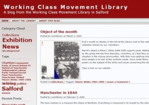 Screen shot of the Library blog