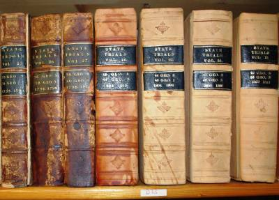 Photograph of volumes of State Trials