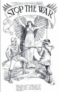 Stop the War - Drawing by Walter Crane for the anti Boer War movement
