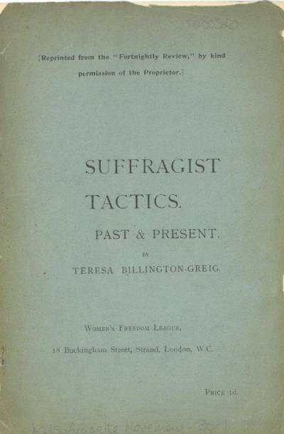 Title page of Suffragist Tactics