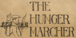 The Hungry Marcher : Header from NUWM newsletter