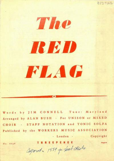 The Red Flag - a songsheet