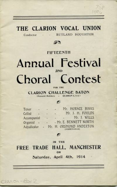 Clarion Vocal Union 15th annual festival and choral contest programme