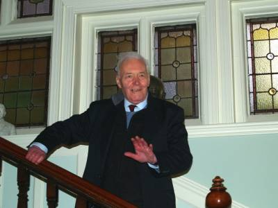 Tony Benn opening the refurbished hall and launching the new website