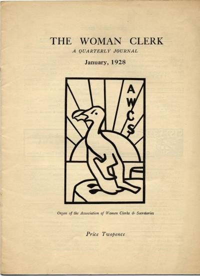 Front cover of The Woman Clerk for Jan 1928