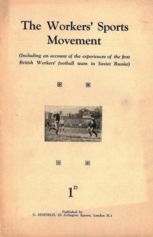 the workers' sports movement pamphlet