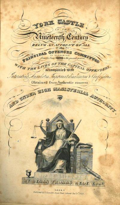 Title page of York Castle in the nineteenth century